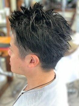 ヤソ(yaso)の写真/《カット+眉カット+スタイリング剤¥5000》スタイリングのお悩みも解決!自宅でもセットしやすいヘアに♪