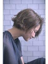 バルーンヘアー(BALLOON HAIR)【BALLOON HAIR 表参道】セミウェットグレージュカールボブ
