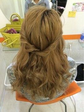 結婚式の髪型(ヘアアレンジ) ★ゆるふわハーフアップ