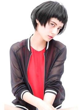 キャロル(CAROL)黒髪 くら髪 ベリーショートヘアスタイル