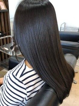 ヘアーデザイン アール(HairDesign Ar)の写真/【JR・神鉄三田駅徒歩2分】うねり、艶無く広がる髪。それらをノンダメージで髪質改善トリートメント☆