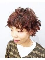 エイム ヘアメイク 横川店(eim HAIR MAKE)eim で叶える♪mixパーマがオシャレ☆エアリーマッシュウルフ
