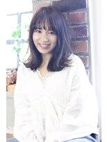 【viewt hair】ピンクラベンダー × シースルーバング 福山市