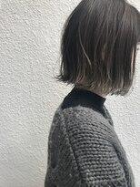 マイ ヘア デザイン(MY hair design)切りっぱなしボブグレーハイライト