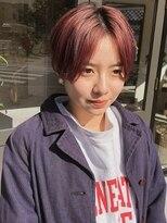ヘアーアイスカルテット(HAIR ICI QUARTET)くすみピンクショートヘア