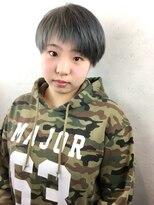☆シルバーアッシュ(Wカラー)×アシメショート☆