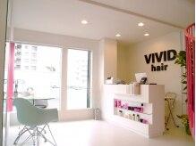 ビビッド ヘアー(VIVID hair)の雰囲気(白い店内に、ピンクのさし色がカワイイ★)