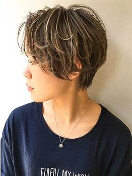 ティー(tea)の写真/【大崎駅4分】骨格に合わせた小顔魅せカット×トレンドのデザインでこなれ感を。楽にキマるのが嬉しい♪