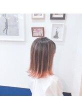 ヘアースタジオ ハーフバック 高尾店(HAIR STUDIO HALF BACKS×1/2)ピンクバレイヤージュ