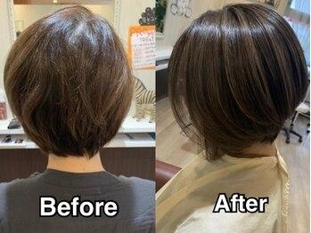スウィッチグラン(hair salon switch grand)の写真/【JR茨木駅】長年のダメージを諦めている貴方へ!髪の健康を維持する特殊ケアメニューで「したい」が叶う♪