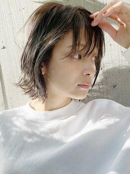 フラミューム 藤沢(flammeum)の写真/『柔らかい質感と透明感が叶う』ただまっすぐなだけじゃない、憧れのスタイルを叶えるための縮毛矯正です☆