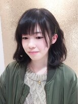 クラメール 黒崎コムシティ店(Kraemer)黒髪くせ毛風ボブ