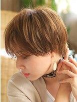 カイノ プラットプラット店(KAINO)【KAINO】大人かわいい前下り耳かけショートトランクスヘア♪