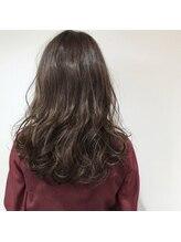 セックヘアデザイン(Sec hair design)【Sec. hair design水戸】ニュアンスカール&グレーアッシュ