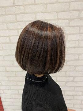ビス ヘア アンド ビューティー 西新井店(Vis Hair&Beauty)インスタ人気ボブハイライトカラーバレイヤージュミニボブ小顔