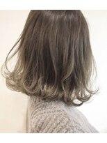 ヘアメイク アプト モカレーベル(HAIR MAKE apt mocalabel)伸ばしかけボブ