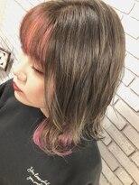 アンルポン 西梅田(un le pont)【un le pont 西梅田】 インナーカラー×ピンク ◎