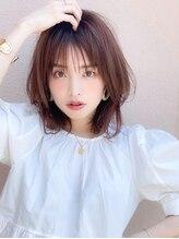 アグ ヘアー エッジ 昭和店(Agu hair edge)《Agu hair》シースルーの透け感×涼しげミディ