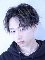コンフィデンス メンズヘアー(confidence MEN'S HAIR)【セットも簡単】センターパート×スパイラルパーマ