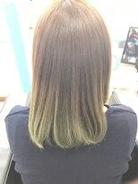 マーメイドヘアー(mermaid hair)ブラウンからカーキのグラデーション