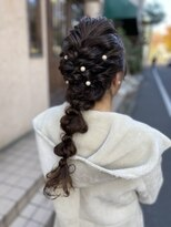 デコヘアー キートス(DECO HAIR kiitos)ロープ編みの編み下ろし