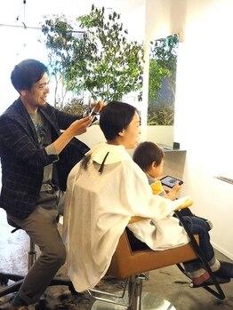 ミトノヘアーアンドイー(MITONO HAIR and E)の写真/【キッズスペースあり】赤ちゃん連れからOK!お子様連れの方でもお気軽にご来店いただけます◎