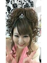 ヘアーアンドメイクサロン ハナココ(hair&make salon hana Coco)お姫様アップ