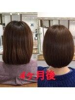オハナヘアー(ohana hair)髪質改善、4回目、初めて4か月の効果