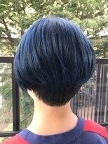 レブリィゼンコー イオンモール多摩平の森店(Reverie ZENKO)ブリーチカラー×透け感ブルー