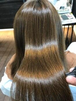 ハコヘアー(HACO HAIR)の写真/本格髪質改善ができる[リンゴ幹細胞トリートメント]日々蓄積されたダメージもエイジレスで髪本来の美しさへ