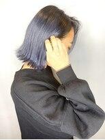 ソース ヘア アトリエ 京橋(Source hair atelier)【SOURCE】プラチナブルー