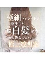 スーベニール(souvenir)極細ハイライト/脱白髪染め/外国人風白髪染め/アッシュグレイ