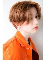 レア 渋谷(Le'a)【染谷直樹】大人可愛いオレンジセンターパートショート☆