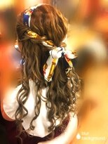 ヘアセットサロン アトリエ チャイ(Hair set salon atelier CHAI)ハーフアップ*スカーフアレンジ