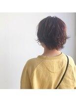 ケーオーエス(KOS beauty hair, nail & eyelash)テラコッタカラー×外ハネショート