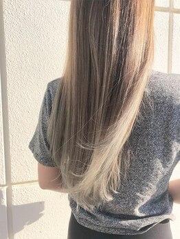サロン ド ヒロ アイリー(Salon de HIRO IRIE)の写真/【前髪縮毛矯正あり】縮毛をかけているのがバレたくない方必見◎自然な仕上がりに満足すること間違いなし★