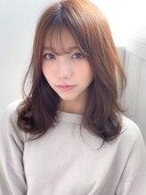 アグ ヘアー アイナ いわき2号店(Agu hair aina)《Agu hair》シースルーバング色っぽふんわりセミディ