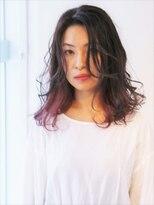 ヘアーライズ 池袋東口店(hair RISE)黒髪インナーカラーピンク