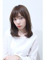 ヘア デザイン エシレ(Hair design esille.)大人かわいいラウンドストレート