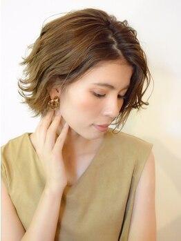 キヴィ(kivi)の写真/髪を大切にする敏感肌の方にも嬉しい♪低刺激の極上オーガニックカラーで天然の柔らかな色彩のツヤ髪に♪