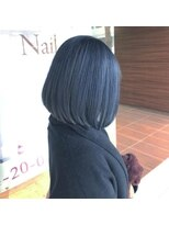 ヘアメイク シュシュ(Hair make chou chou)ブルーアッシュ×切りっぱなしボブ【chou-chou 北林夏実】