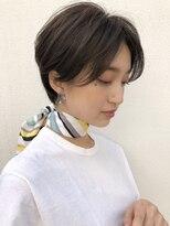 【NOA】マニッシュ 美髪 フレンチボブ ネイビーカラー1
