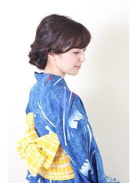 花火大会&夏祭り浴衣髪型 浴衣でお出かけ♪涼しげアレンジ