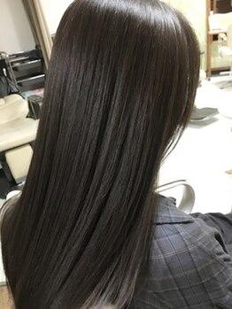 パステル ヘアー デザイン 平井北口(Pastel Hair Design)の写真/髪へのダメージを抑えながらの施術で、根元から毛先までアイロンいらずのツヤサラhairへ導きます☆