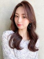アフロートみきな長め前髪かきあげバング前髪なし大人女子韓国髪