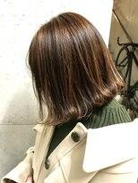 ルノン(LUNON)【LUNON】ハイライト×オレンジブラウン