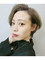 エイム ヘアメイク 横川店(eim HAIR MAKE)ハンサムショート×ハイベージュ