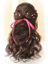 ヘアセットサロン パスクア(Hair Set Salon Pasqua)リボンのハーフダウン