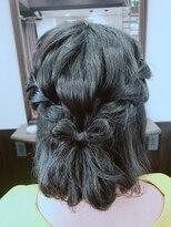 編み込みリボンヘアー