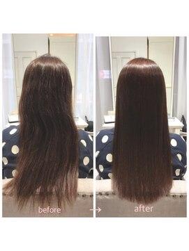 クラージュ(courage)カット+髪質改善縮毛矯正